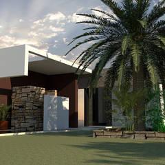 Casa Z-29: Casas unifamiliares de estilo  por diseño con estilo ... sas