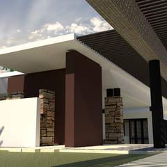Casa Z-29: Casas unifamiliares de estilo  por diseño con estilo ... sas,