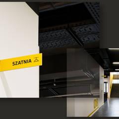 1500 m2 biurowca Marathon – projekt wnętrz siedziby firmy logistycznej: styl , w kategorii Przestrzenie biurowe i magazynowe zaprojektowany przez SZARA / studio
