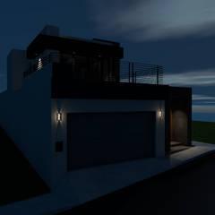 CASA HABITACION DE 242 M2: Casas unifamiliares de estilo  por ARC ARQUITECTURA