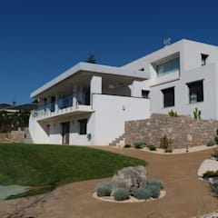 Diseño y construcción de una vivienda unifamiliar en Valencia: Casas unifamilares de estilo  de Estudio1403, COOP.V. Arquitectos en Valencia