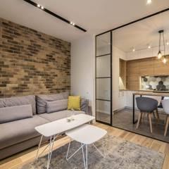 Дизайн квартиры в стиле лофт в Днепре : Гостиная в . Автор – VAKULENKODESIGN