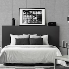 ห้องนอนขนาดเล็ก by Loft Design System Deutschland - Wandpaneele aus Bayern