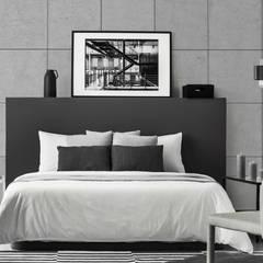 غرف نوم صغيرة تنفيذ Loft Design System Deutschland - Wandpaneele aus Bayern