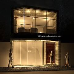 Obra residencial e comercial, arquitetura brutalista: Casas  por Circe Coelho arquitetura