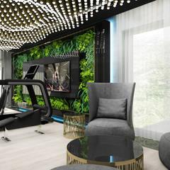 PURE GENIUS | V | Wnętrza domu Nowoczesna siłownia od ARTDESIGN architektura wnętrz Nowoczesny