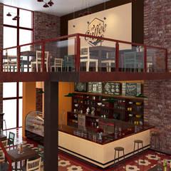 Lavoe Café: Espacios comerciales de estilo  por Pragma - Diseño