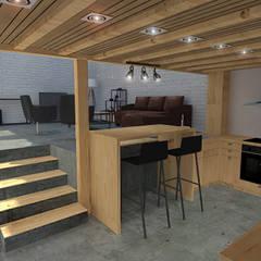 De la grange au loft : Cuisine de style  par World Vibes Concept, Minimaliste Bois Effet bois