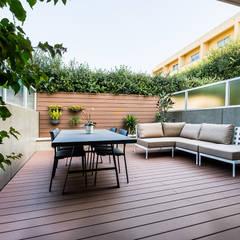 Moradia em Miramar - SHI Studio Interior Design Varandas, marquises e terraços modernos por SHI Studio, Sheila Moura Azevedo Interior Design Moderno