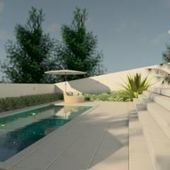 Piscinas de estilo  de Isa De La Volpe • Arquitetura • Interiores • Construção