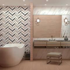Дизайн ванной комнаты Ванная в средиземноморском стиле от Non Solo Design Средиземноморский Керамика