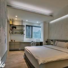 夏木漱石:  臥室 by Zendo 深度空間設計, 簡約風
