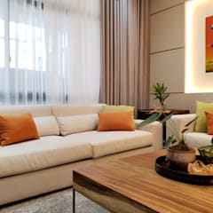 Vista Valley Residence:  Living room by Geraldine Oliva