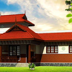 Builders In Thrissur:  Balcony by Prithvi Homes