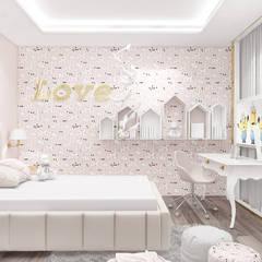 PURE GENIUS | IV | Wnętrza domu: styl , w kategorii Pokój dla dziwczynki zaprojektowany przez ARTDESIGN architektura wnętrz