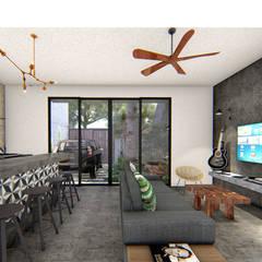 Маленькие кухни в . Автор – Indigo Diseño y Arquitectura, Тропический Бетон