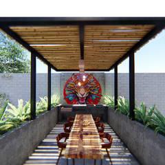 بلكونة أو شرفة تنفيذ Indigo Diseño y Arquitectura