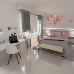 REMODELACIÓN INTEGRAL DE CASA: Dormitorios de estilo  por Aida Tropeano & Asoc.,Moderno
