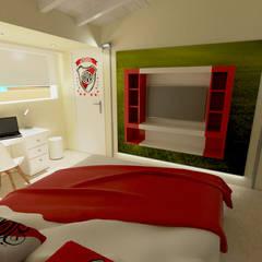 REMODELACIÓN INTEGRAL DE CASA: Dormitorios infantiles de estilo  por Aida Tropeano & Asoc.