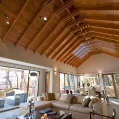 Gable roof by Fabiana Ordoqui  Arquitectura y Diseño.   Rosario | Funes |Roldán, Modern Solid Wood Multicolored