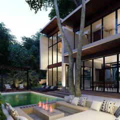 مسبح لانهائي تنفيذ Indigo Diseño y Arquitectura,
