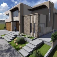 CASA DALVIAN M80: Casas unifamiliares de estilo  por MABEL ABASOLO ARQUITECTURA,Minimalista