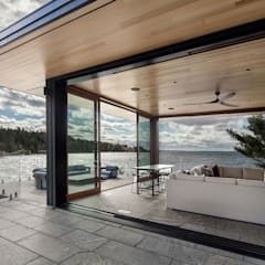 Contemporary Cottages in Ontario:  Patios & Decks by Trevor McIvor Architect Inc