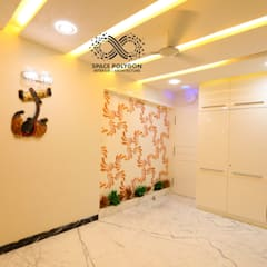 4 bhk Luxury Apartment design at TVH Lumbini, Puruswalkam, Chennai:  Study/office by Space Polygon