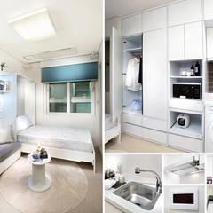 주거-영등포 오피스텔 모델하우스: DB DESIGN Co., LTD.의  작은 침실