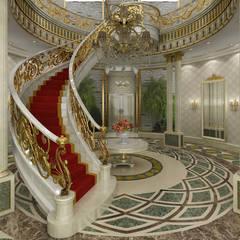 Sia Moore Archıtecture Interıor Desıgn – Al Rayyan Villa - Doha / Katar:  tarz Koridor ve Hol