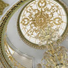 Sia Moore Archıtecture Interıor Desıgn – Al Rayyan Villa - Doha / Katar:  tarz Koridor ve Hol, Klasik Cam