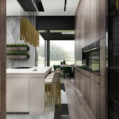 PURE GENIUS | II | Wnętrza domu: styl , w kategorii Kuchnia zaprojektowany przez ARTDESIGN architektura wnętrz