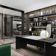 PURE GENIUS | II | Wnętrza domu: styl , w kategorii Domowe biuro i gabinet zaprojektowany przez ARTDESIGN architektura wnętrz
