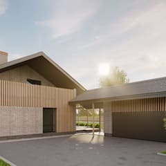 Загородный дом на Чистых Прудах *COMPACT*: Дома с террасами в . Автор – Дизайн-Центр