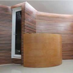 Clínica: Pasillos y recibidores de estilo  por 8 AM INGENIERIA