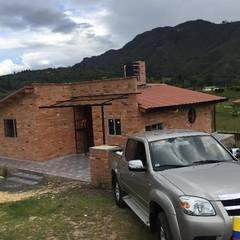 Proyecto casa de descanso Simijaca - Cundinamarca: Casas de estilo  por Lopez Robayo Arquitectos, Rural Ladrillos