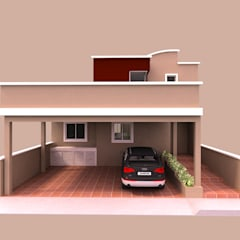 Casa tipo TOWN HOUSE: Casas unifamiliares de estilo  por Imprearte spa