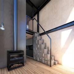 Cabañas estivales para alquiler: Cocinas de estilo  por Arquitecto Manuel Morón
