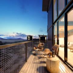 Balcón de estilo  por Arquitecto Manuel Morón