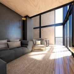 Cabañas estivales para alquiler: Livings de estilo  por Arquitecto Manuel Morón