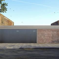 Vivienda de múltiples patios: Casas pequeñas de estilo  por Arquitecto Manuel Morón,Minimalista