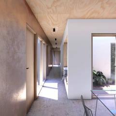 Vivienda de múltiples patios: Comedores de estilo  por Arquitecto Manuel Morón