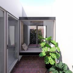 Vivienda de múltiples patios Jardines minimalistas de Arquitecto Manuel Morón Minimalista