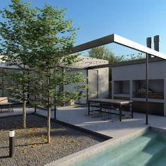 Vivienda en barrio Patagonia: Casas unifamiliares de estilo  por Arquitecto Manuel Morón,Minimalista