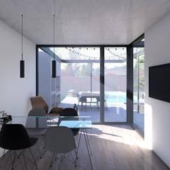 Vivienda en barrio Patagonia: Comedores de estilo  por Arquitecto Manuel Morón