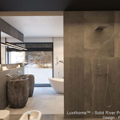Pedestal Stone Sinks:  Bathroom by Lux4home™ Indonesia