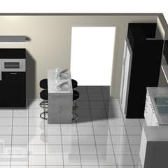 Cocina con desayunador: Muebles de cocinas de estilo  por Imprearte spa