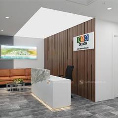 Khu lễ tân - View3:  Tòa nhà văn phòng by Công ty CP nội thất Miền Bắc