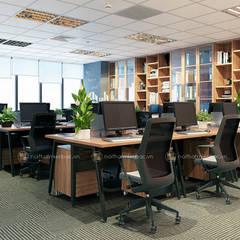 Khu làm việc ban kinh tế - View1:  Tòa nhà văn phòng by Công ty CP nội thất Miền Bắc