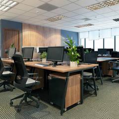 Khu làm việc ban kinh tế - View2:  Tòa nhà văn phòng by Công ty CP nội thất Miền Bắc